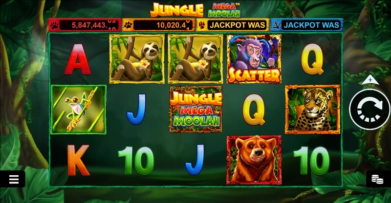 jungle mega moolah spelfunktioner