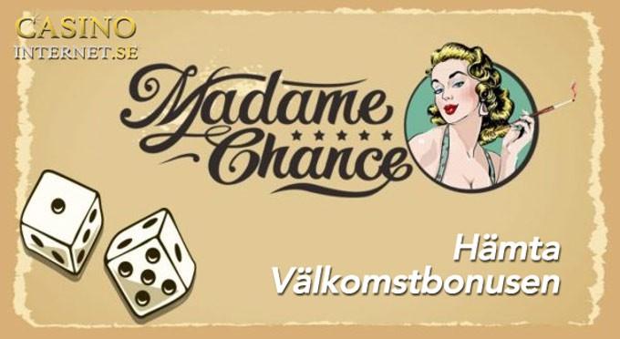 madame chance välkomstbonus