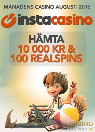 InstaCasino Månadens Casino