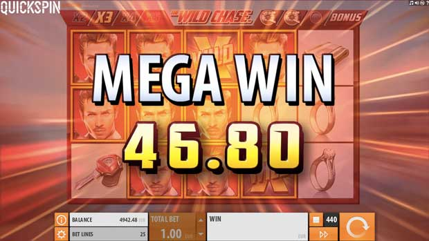 mega win wild chase quickspin internet casino