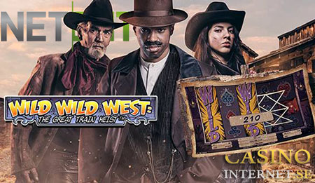 Wild Wild West: The Great Train Heist spelautomat netent video slot online casino